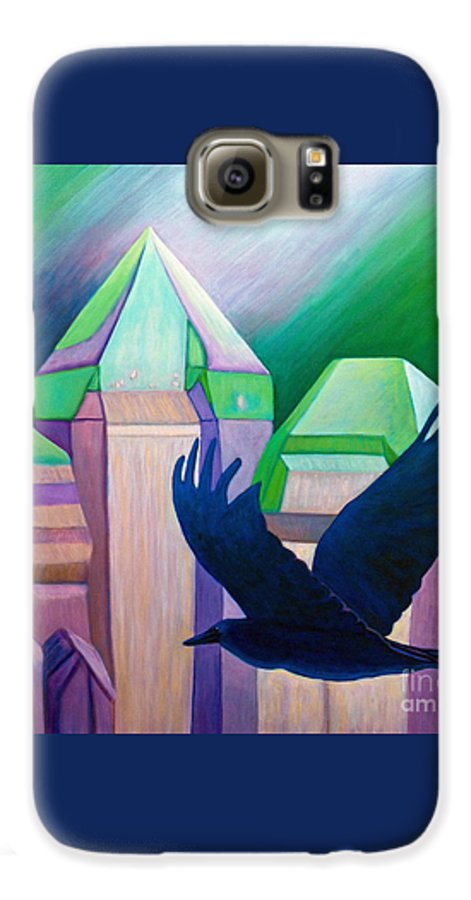 Crystals Galaxy S6 Case featuring the painting Atlantis by Brian Commerford