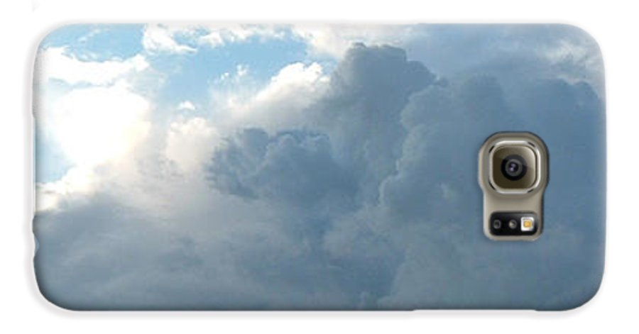 Sky Galaxy S6 Case featuring the photograph Atmospheric Barcode 19 7 2008 16 by Donald Burroughs
