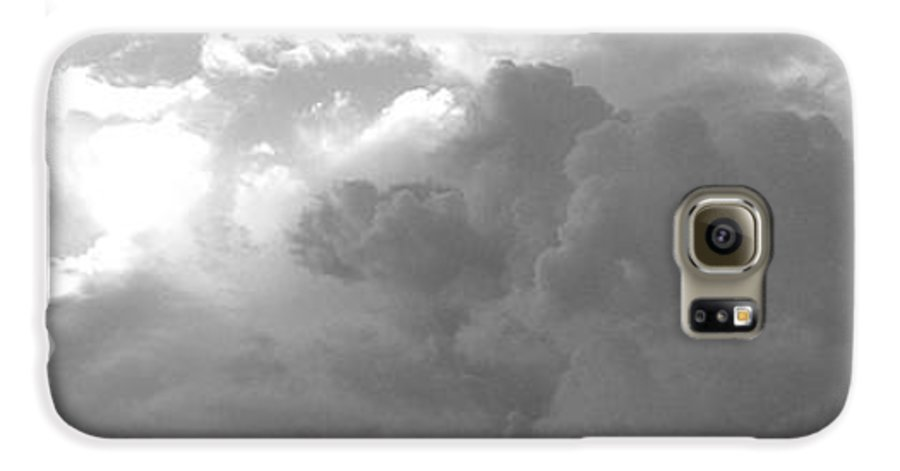Black And White Galaxy S6 Case featuring the photograph Atmospheric Barcode 19 7 2008 16 Version Bw by Donald Burroughs
