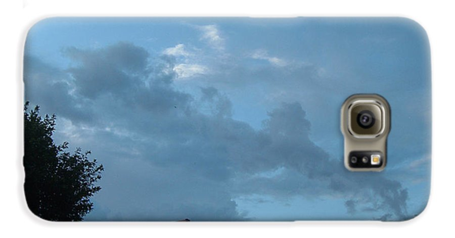 Sky Galaxy S6 Case featuring the photograph Atmospheric Barcode 19 7 2008 18 Or Titan by Donald Burroughs