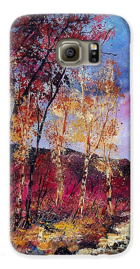 Landscape Galaxy S6 Case featuring the painting Autumn 760808 by Pol Ledent