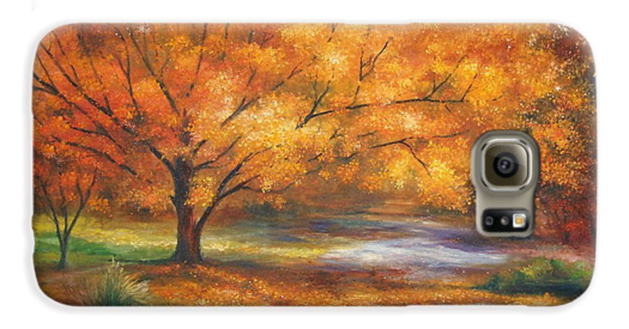 Fall Galaxy S6 Case featuring the painting Autumn by Ann Cockerill