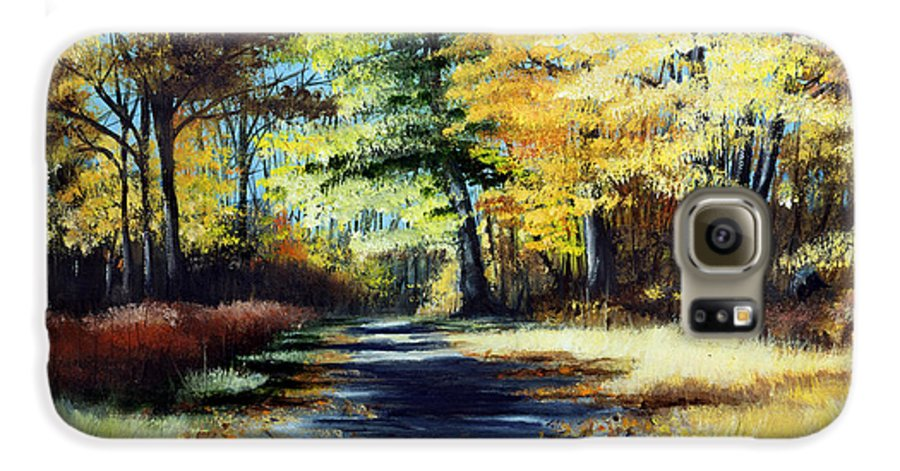 Landscape Galaxy S6 Case featuring the painting Autumn Colors by Paul Walsh