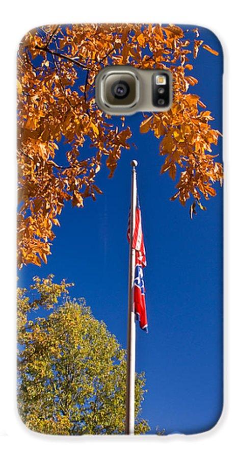 Flag Galaxy S6 Case featuring the photograph Autumn Flag by Douglas Barnett