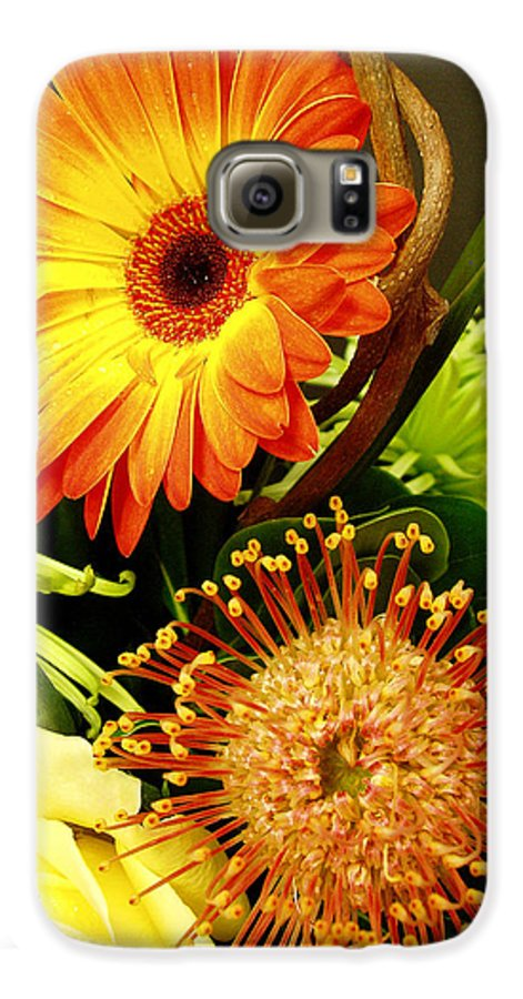 Autumn Galaxy S6 Case featuring the photograph Autumn Flower Arrangement by Nancy Mueller