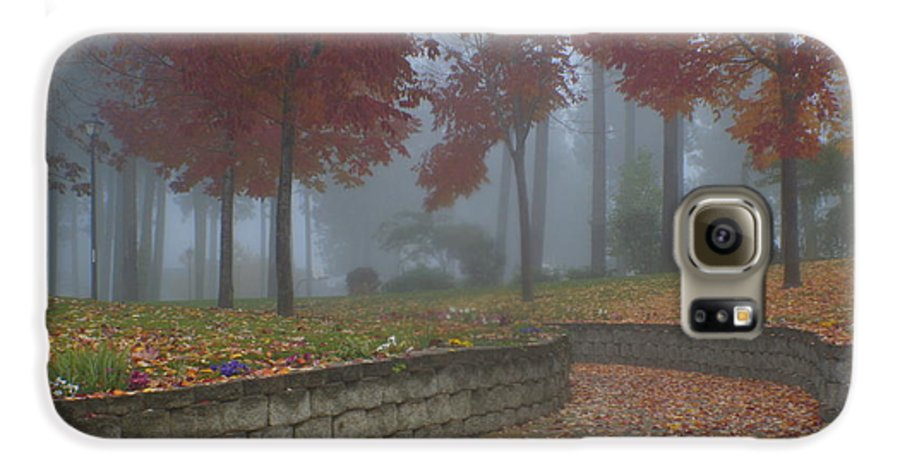 Autumn Galaxy S6 Case featuring the photograph Autumn Fog by Idaho Scenic Images Linda Lantzy