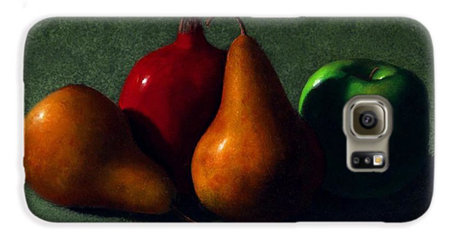 Still Life Galaxy S6 Case featuring the painting Autumn Fruit by Frank Wilson