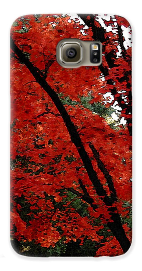 Autumn Galaxy S6 Case featuring the photograph Autumn In New England by Melissa A Benson