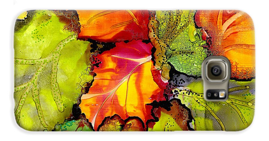 Leaves Galaxy S6 Case featuring the painting Autumn Leaves by Susan Kubes