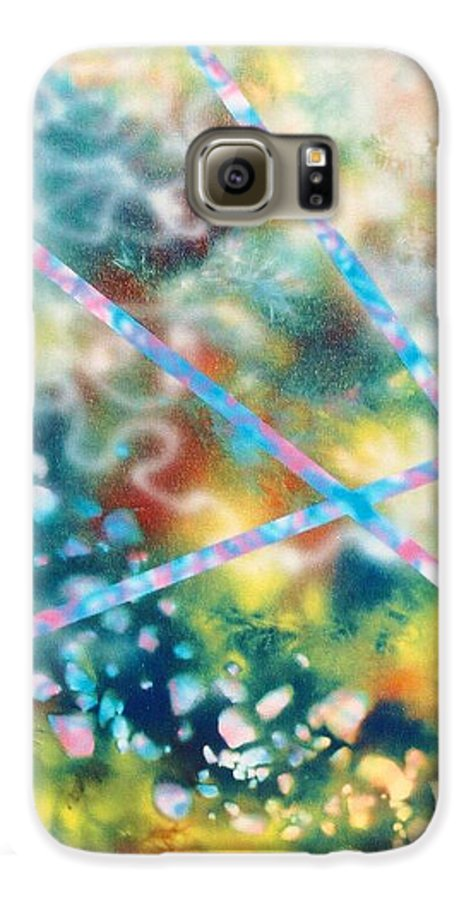 Abstract Galaxy S6 Case featuring the painting Autumn by Micah Guenther