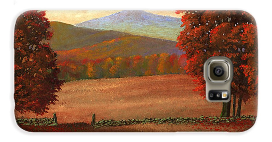 Autumn Galaxy S6 Case featuring the painting Autumn Pastures by Frank Wilson