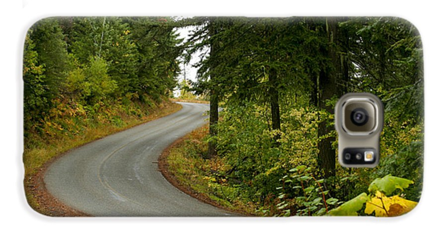 Road Galaxy S6 Case featuring the photograph Autumn Road by Idaho Scenic Images Linda Lantzy