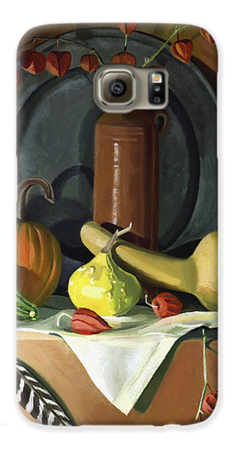 Still Life Galaxy S6 Case featuring the painting Autumn Still Life by Nancy Griswold