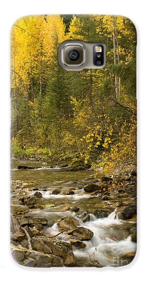 Idaho Galaxy S6 Case featuring the photograph Autumn Stream by Idaho Scenic Images Linda Lantzy