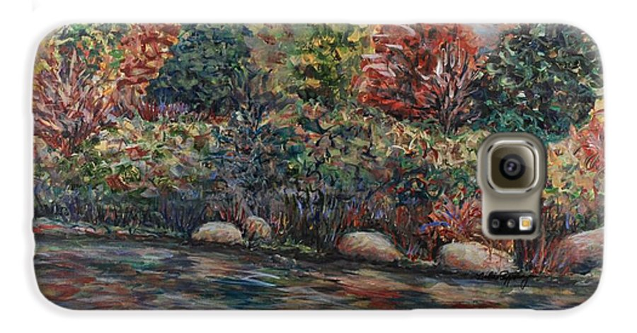 Autumn Galaxy S6 Case featuring the painting Autumn Stream by Nadine Rippelmeyer