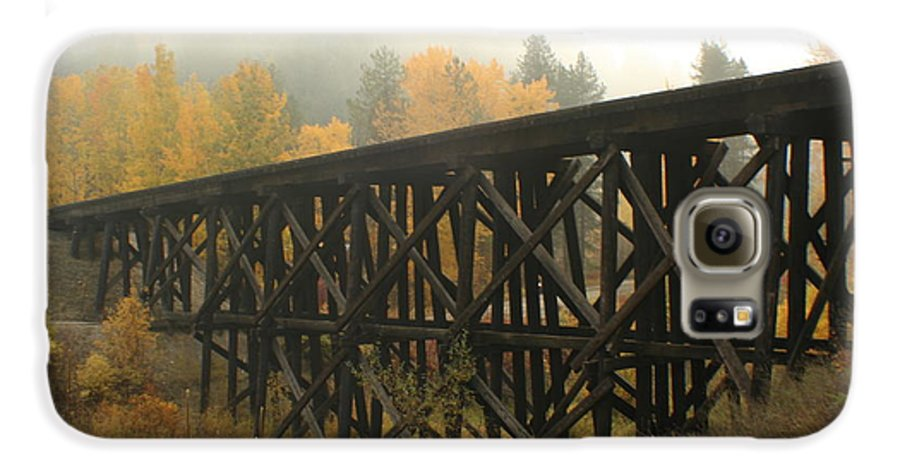 Trestle Galaxy S6 Case featuring the photograph Autumn Trestle by Idaho Scenic Images Linda Lantzy