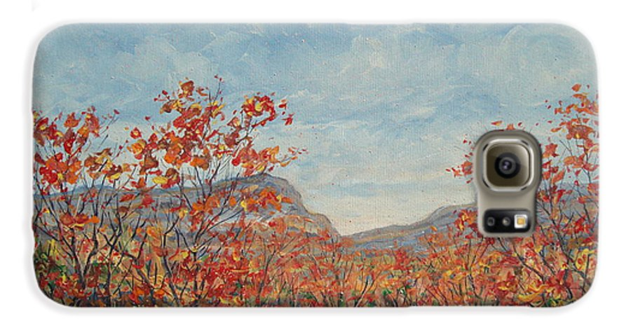 Paintings Galaxy S6 Case featuring the painting Autumn View. by Leonard Holland