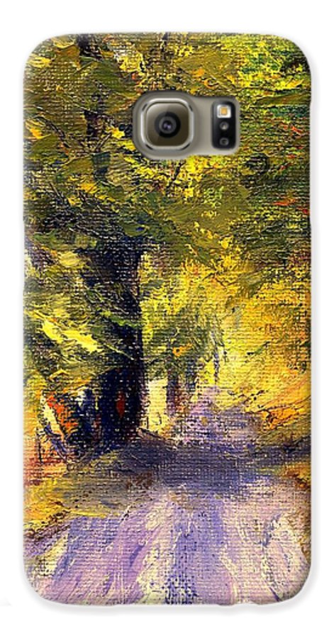 Autumn Galaxy S6 Case featuring the painting Autumn Walk by Gail Kirtz