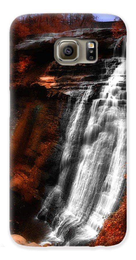 Autumn Galaxy S6 Case featuring the photograph Autumn Waterfall 3 by Kenneth Krolikowski
