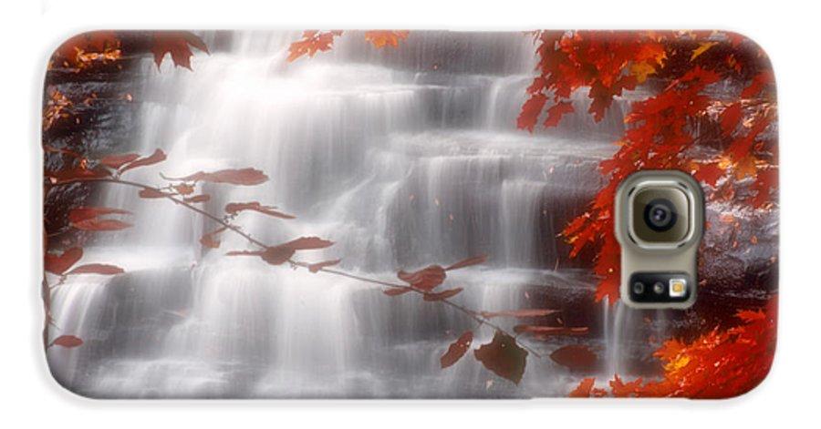 Autumn Galaxy S6 Case featuring the photograph Autumn Waterfall I by Kenneth Krolikowski