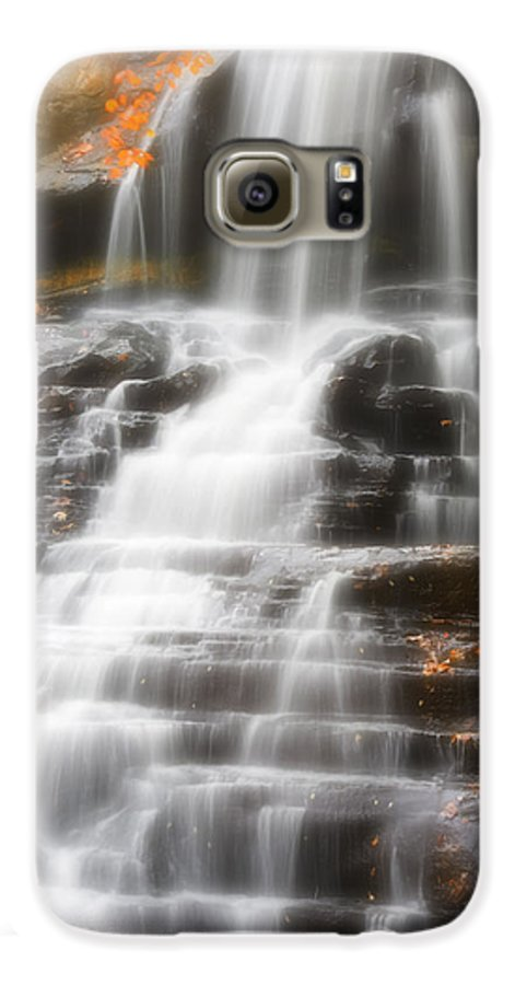 Autumn Galaxy S6 Case featuring the photograph Autumn Waterfall II by Kenneth Krolikowski
