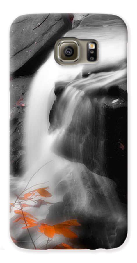 Autumn Galaxy S6 Case featuring the photograph Autumn Waterfall Iv by Kenneth Krolikowski