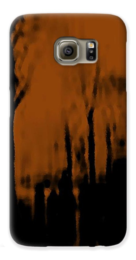 Trees.street.rain.clouds.wet People.the Naked Branches Of The Trees.the Gloomy Light. Galaxy S6 Case featuring the digital art Autumn Wet Day by Dr Loifer Vladimir