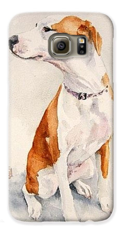 Dog Galaxy S6 Case featuring the painting Aviator by Debra Jones