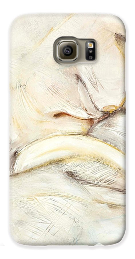 Female Galaxy S6 Case featuring the drawing Award Winning Abstract Nude by Kerryn Madsen-Pietsch