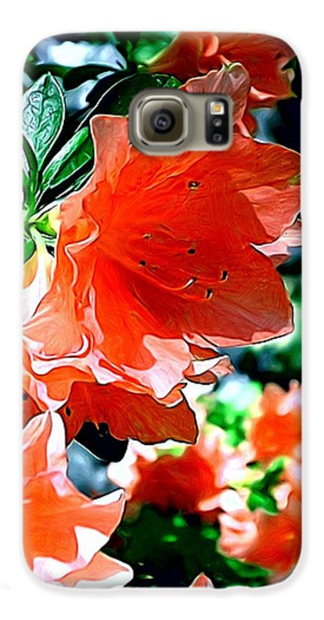 Fine Art Galaxy S6 Case featuring the painting Azaleas In The Spring by Patricia Griffin Brett