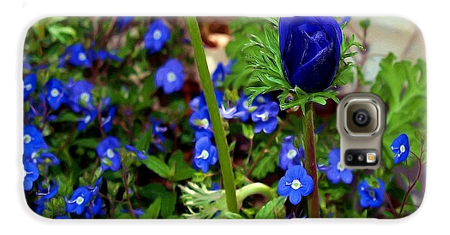 Fine Art Galaxy S6 Case featuring the painting Babys Got The Blues by Patricia Griffin Brett