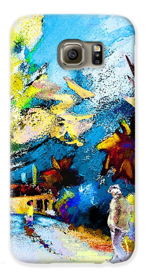 Pastel Painting Galaxy S6 Case featuring the painting Back Home by Miki De Goodaboom