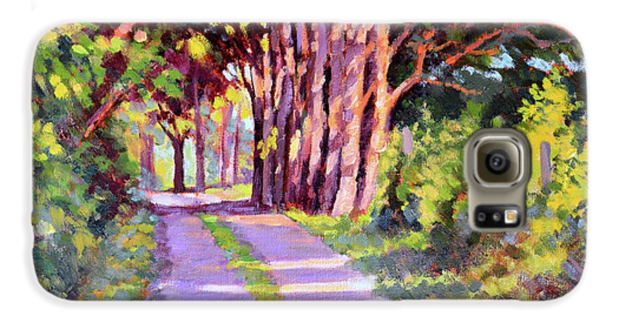 Road Galaxy S6 Case featuring the painting Backroad Canopy by Keith Burgess