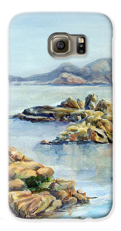 Landscape Galaxy S6 Case featuring the painting Baie by Muriel Dolemieux