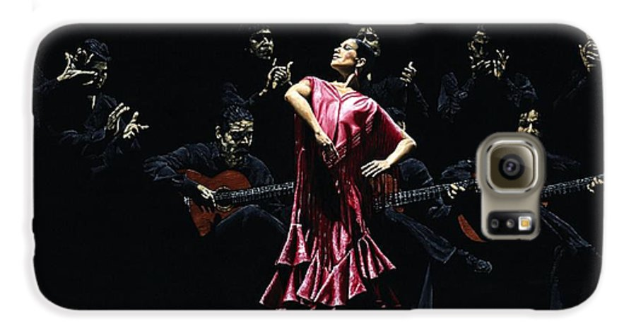 Flamenco Galaxy S6 Case featuring the painting Bailarina Orgullosa Del Flamenco by Richard Young