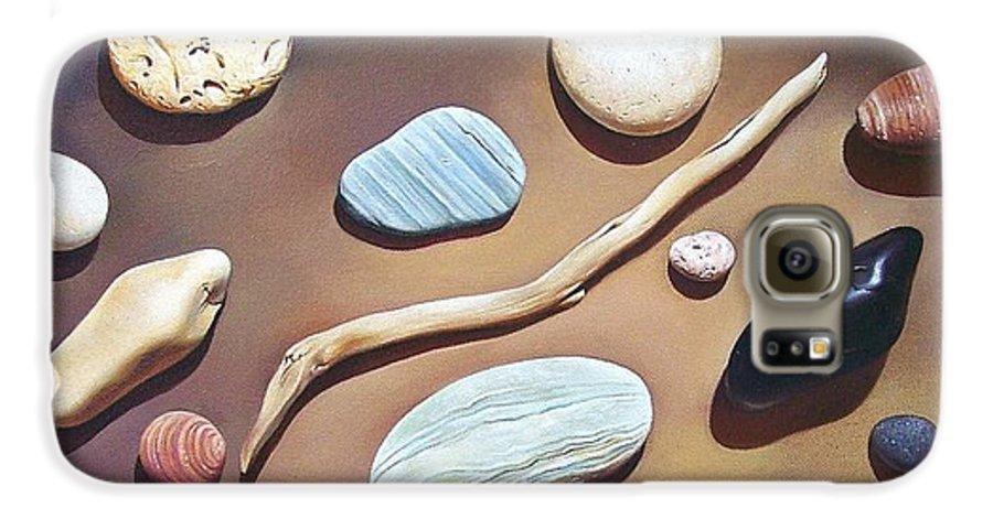 Still Life Galaxy S6 Case featuring the painting Balance by Elena Kolotusha