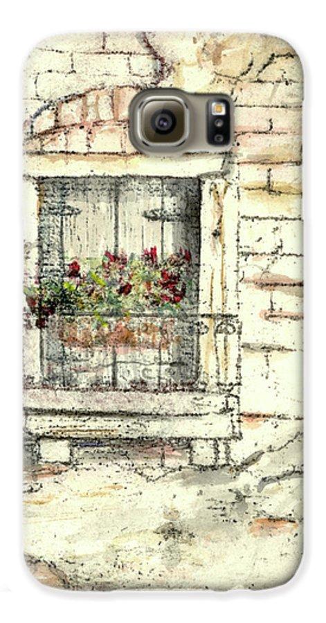 Venice Galaxy S6 Case featuring the painting Balcony Venice by Richard Bulman