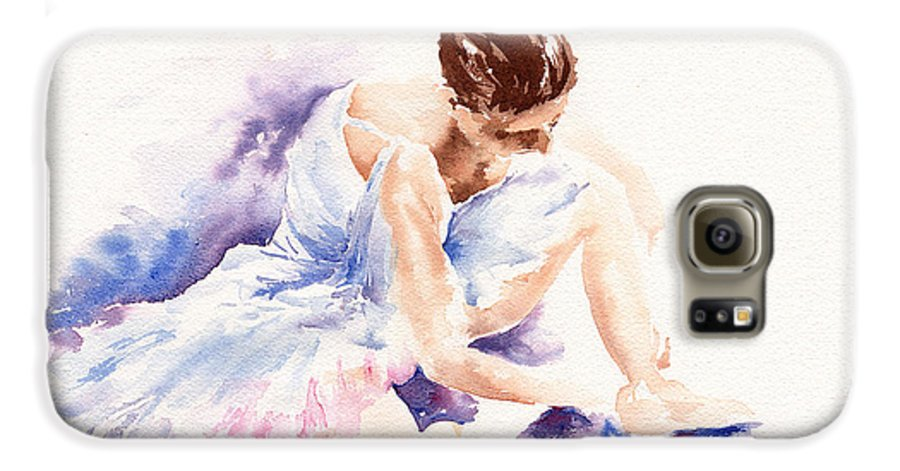 Ballerina Galaxy S6 Case featuring the painting Ballerina by Stephie Butler
