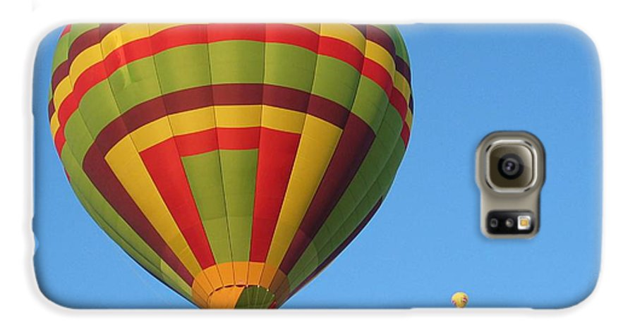 Hot Air Balloons Galaxy S6 Case featuring the photograph Balloons New Mexico by Margaret Fortunato