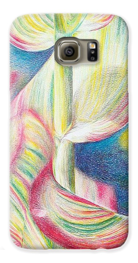 Flower Galaxy S6 Case featuring the painting Bambou by Muriel Dolemieux