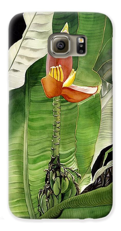 Flower Galaxy S6 Case featuring the painting Banana Blossom by Alfred Ng