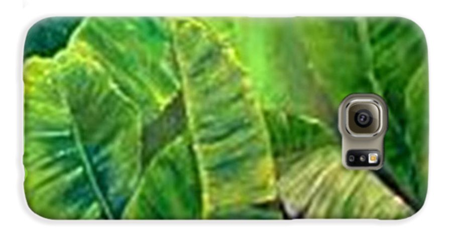 Galaxy S6 Case featuring the painting Banana Leaves by Carol P Kingsley