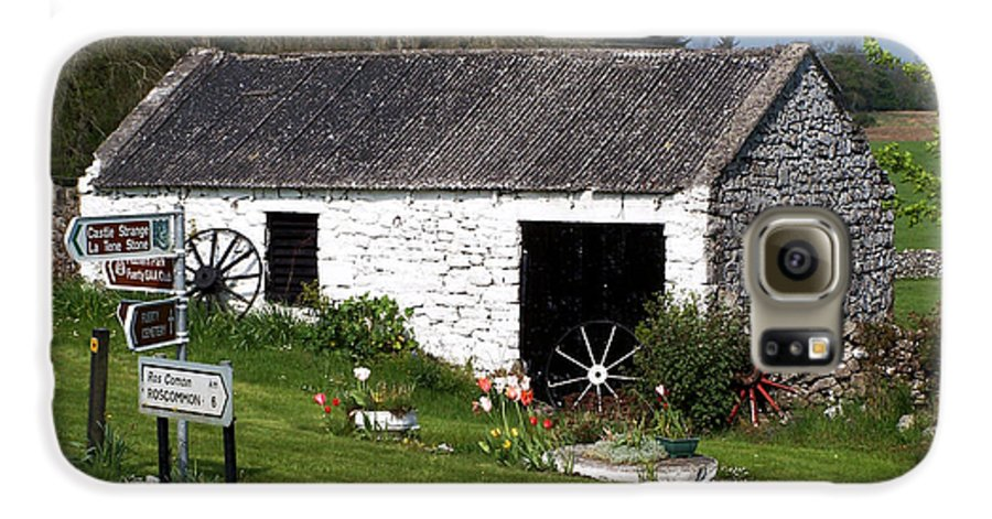 Ireland Galaxy S6 Case featuring the photograph Barn At Fuerty Church Roscommon Ireland by Teresa Mucha