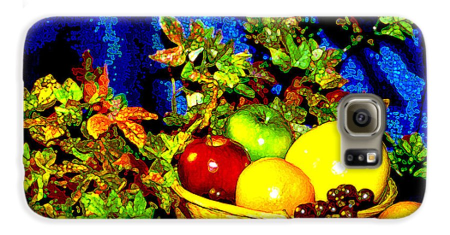 Fruit Galaxy S6 Case featuring the photograph Basket With Fruit by Nancy Mueller