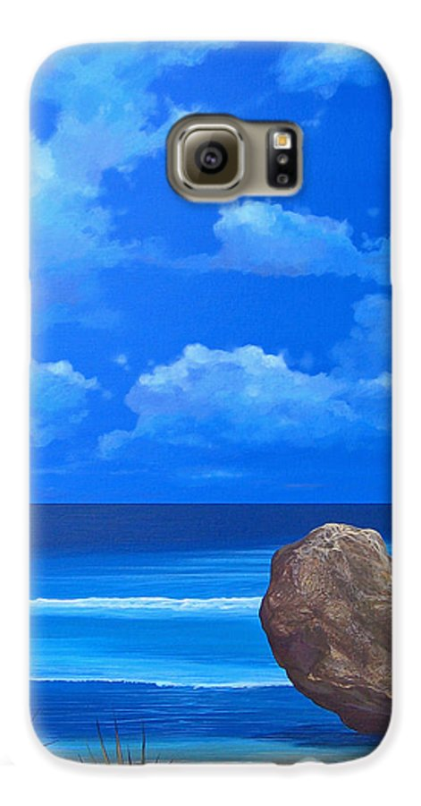Barbados Galaxy S6 Case featuring the painting Bathsheba by Hunter Jay
