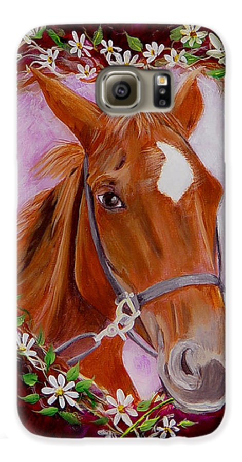 Horse Galaxy S6 Case featuring the painting Batuque by Quwatha Valentine