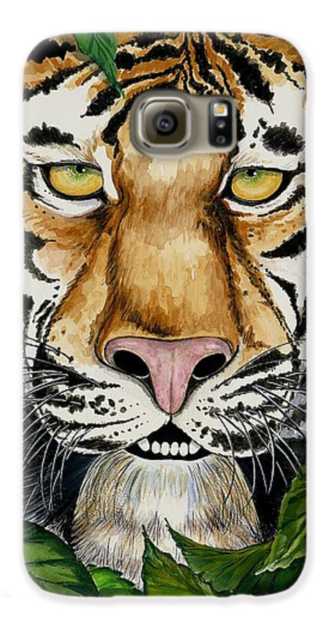 Art Galaxy S6 Case featuring the painting Be Like A Tiger by Carol Sabo