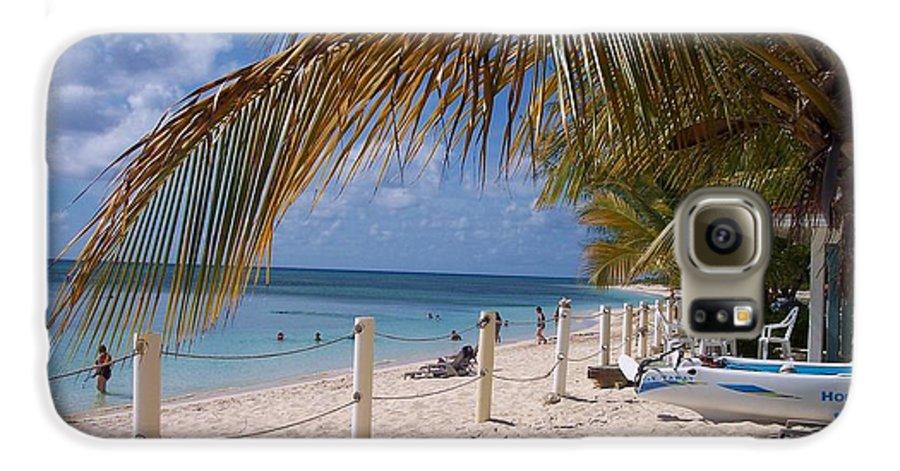 Beach Galaxy S6 Case featuring the photograph Beach Grand Turk by Debbi Granruth