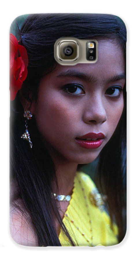 Girl Galaxy S6 Case featuring the photograph Beautiful Thai Girl by Carl Purcell