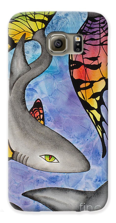 Surreal Galaxy S6 Case featuring the painting Beauty In The Beasts by Lucy Arnold